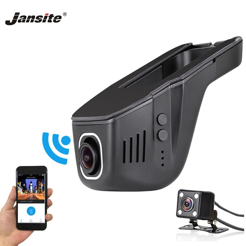 Jansite Car Dvr Camcorder Registrator Wifi-Camera Loop-Recording Dash-Cam 1080P FHD App-Control