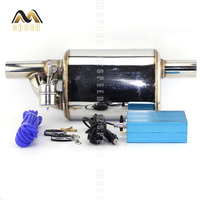 2017 new Universal 2.5 Exhaust Pipe Electric I Pipe Exhaust Electrical Cutout with Remote Control Wholesale Valve