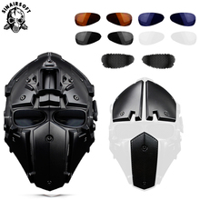 Tactical Mask Fast Helmet Airsoft Sport Play Motorcycle Hunting Iron Multi-Function CS Outdoor Protect Equipment Paintball Masks