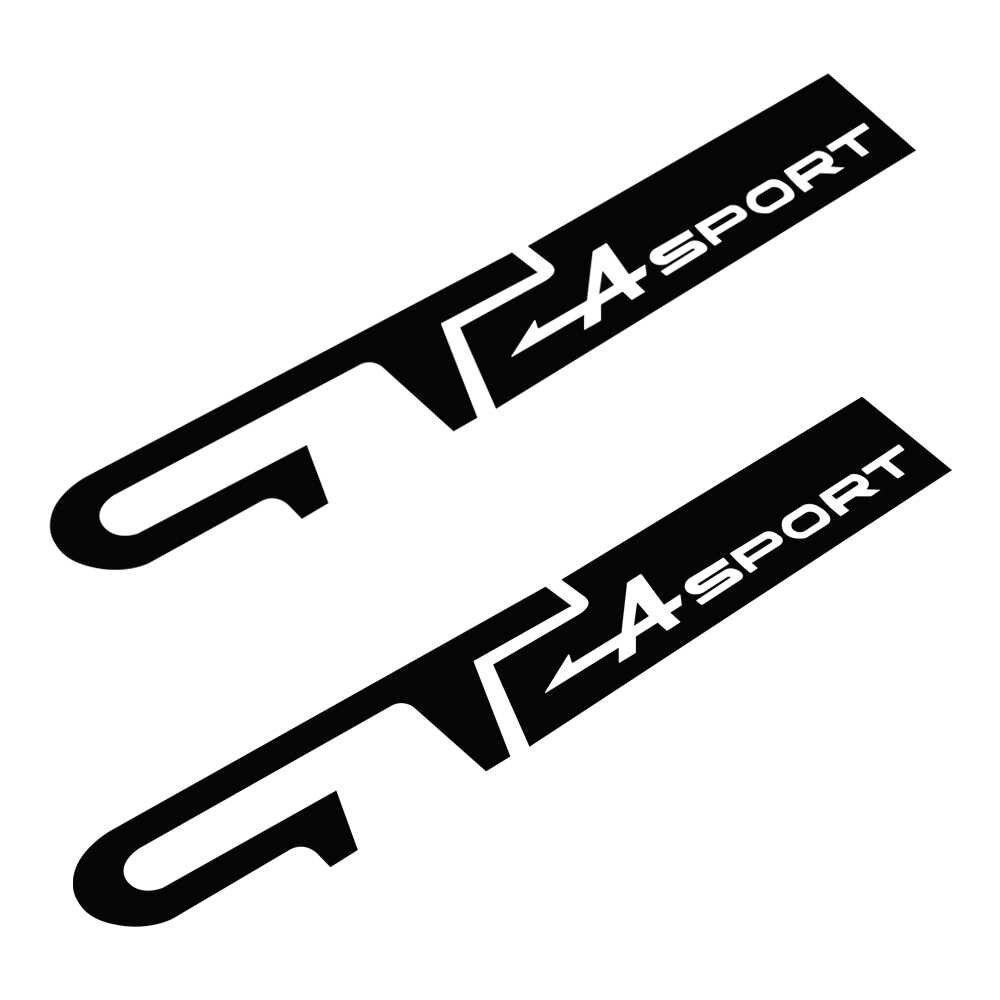 2 sztuk GT Sport odznaka winylowa tablica naścienna karoserii naklejka z logo dla Renault Megane RS Twingo Fluence Duster Scenic Clio ZOE akcesoria