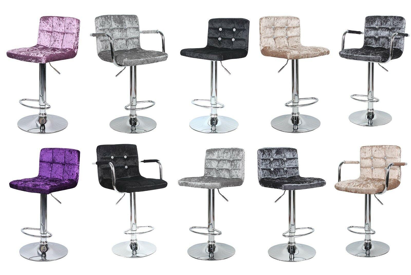 Bar Stools Set of 9pcs/set Counter Height Adjustable Velvet Swivel Dining  Chair bar chair Crushed Velvet Breakfast Bar Stool