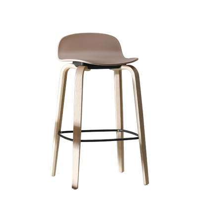 Nordic Solid Wood Bar Chair Modern Minimalist Bar Cafe Bar Stool Chair Casual Fashion Front Stool Chair
