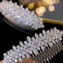 ASNORA Fashion wedding hair accessories wedding accessories side hair comb bridal jewelry holiday gift