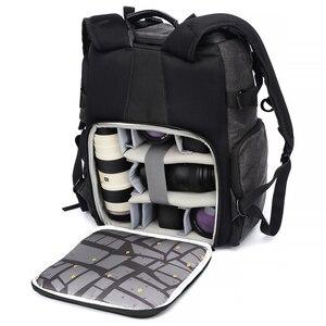 Image 4 - Địa Lý Quốc Gia Ng W5072 Da Túi Ba Lô Công Suất Lớn Laptop Mang Theo Túi Cho Kỹ Thuật Số Máy Ảnh Du Lịch