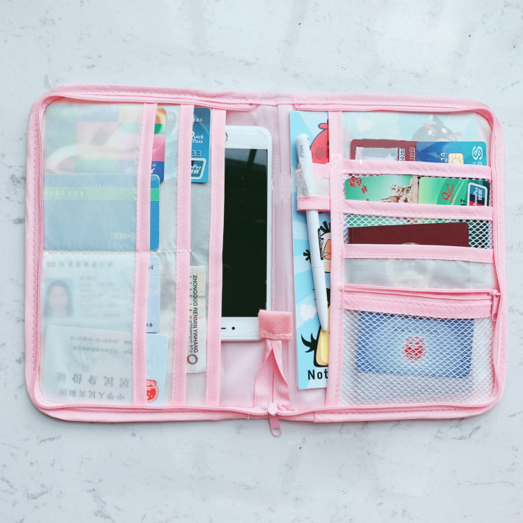 Gili Smoking Dog Travel Passport /& Document Organizer Zipper Case