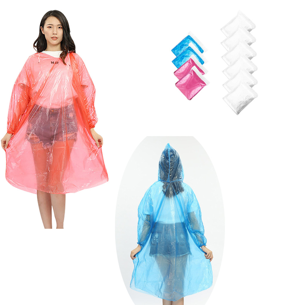 10 X Emergency Rain Ponchos Waterproof Coat  Disposable  Festivals Camping....
