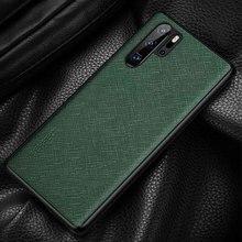 جلد طبيعي حافظة لهاتف Huawei P30 برو حالة دائم الغطاء الخلفي Etui كوكه لهواوي P30 P30Pro حالة حماية الإسكان