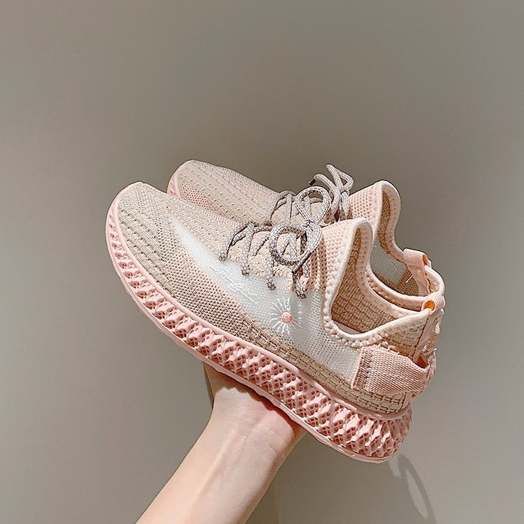 2020 Women's Flat Breathable Shoes Summer Casual Ladies Mesh Sneakers Walking Shoes Female Office Shallow Fabric Girls Shoes