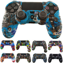 Anti slip Silicone Case Protective Skin Cover for Sony Play Station Dualshock 4 PS4 Pro Slim Controller wireless Game accessory
