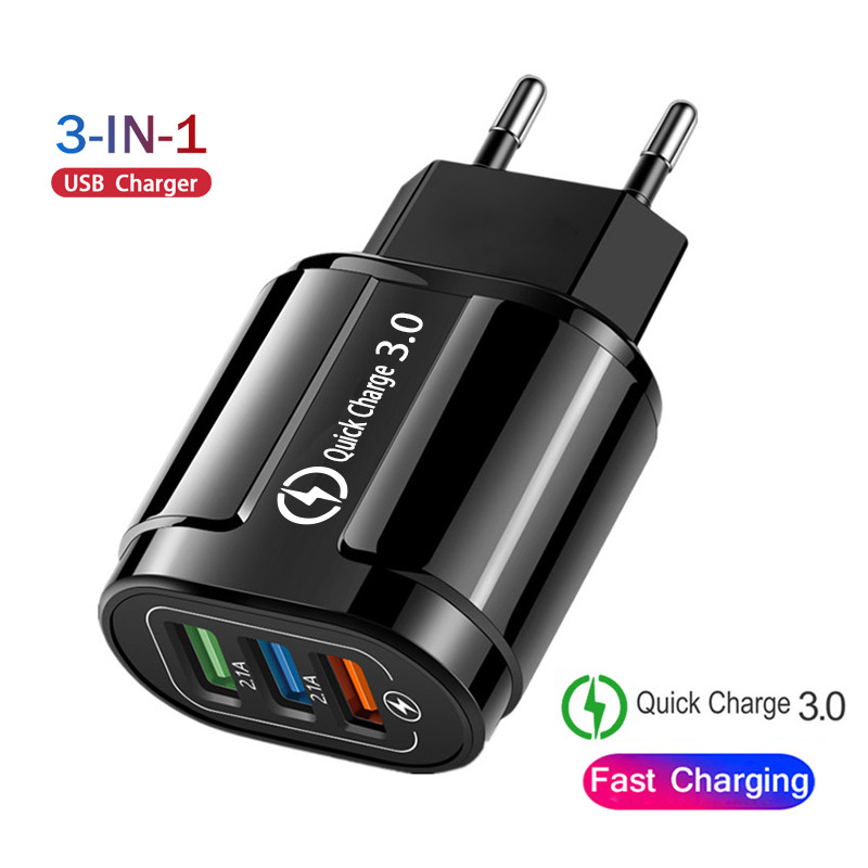 USB Charger EU/US Plug Quick Charge 3.0 Fast Charger Wall Charger For iphone 6 7 8 9 10 11 X Samsung Xiaomi Huawei Phone Charger(China)