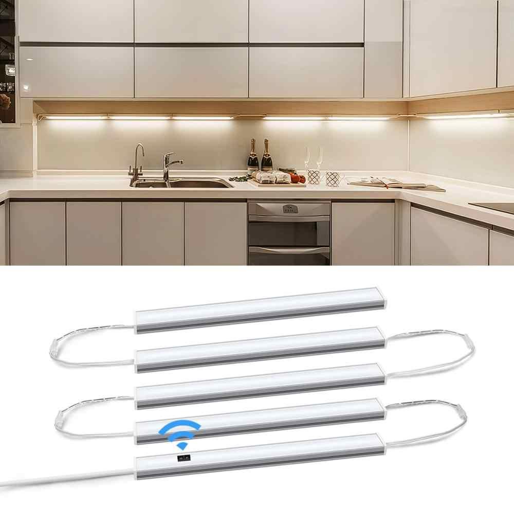 Smart Led Kitchen Light Series Connection 5 Bar Lights Hand Sweep Night Lamp Cabinet Wardrobe Bed Rooms Motion Sensor Lighting|Under Cabinet Lights| - AliExpress