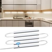Luces inteligentes para el hogar, luz led de barrido para cocina, lámpara de noche, vitrina, armario y dormitorio, con sensores de movimiento y 5 barras conectadas en serie