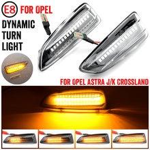 LED clignotant dynamique feu de position latéral pour Opel pour Vauxhall Astra J K Crossland X Grandland Insignia B Zafira C