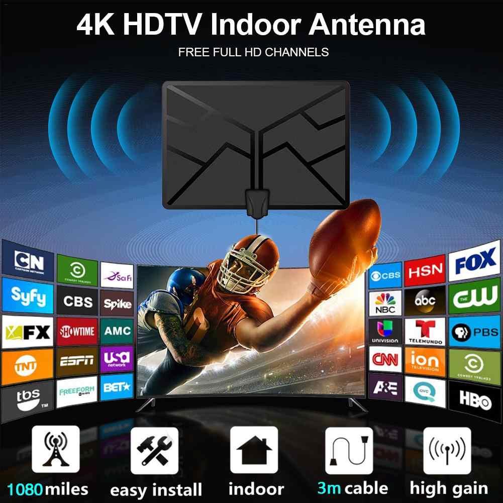 1080 Dặm 4K Kỹ Thuật Số HDTV Trong Nhà Tivi Anten Có Mạch Khuếch Đại Tín Hiệu Tăng Áp Antena TV Kỹ Thuật Số Tdt Hqclear Ăng Ten TV bán Buôn
