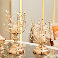 Modern Crystals Candle Holders Wedding Modern Gold Lotus Candle Holder Decoracion Hogar Moderno Morrocan Home Decor AC50CH