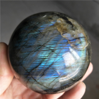 large natural labradorite stone polished sphere healing crystal gemstone chakra reiki spirit energy meditation spectrolite