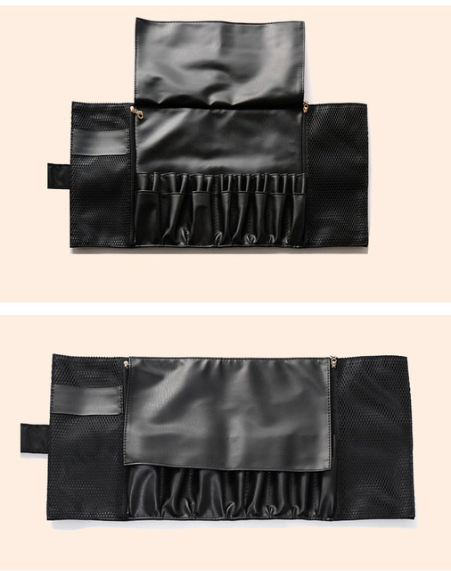 24 Pockets Black Multi-function Makeup Brushes Bag Professional Cosmetic Tools Storage Holder for Brushes dlya kistey organayzer 5
