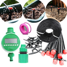 Fast Shipping 10/15/25m Hose Garden Drippers Set With Water Timer Drip Irrigation System Plant Automatic Garden Micro Watering