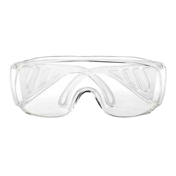 2Pcs Anti Virus Goggle Labor Protection Splash Proof Transparent Anti Fog Sand Proof Riding Anti Shock Safety Glasses   - title=