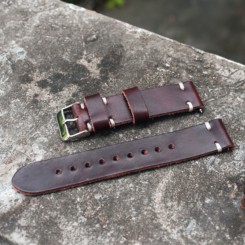 Onthelevel Soft Leather Watch Strap 18mm 20mm 22mm Retro Leather Strap Watchband With Quick Release Spring Bar #E