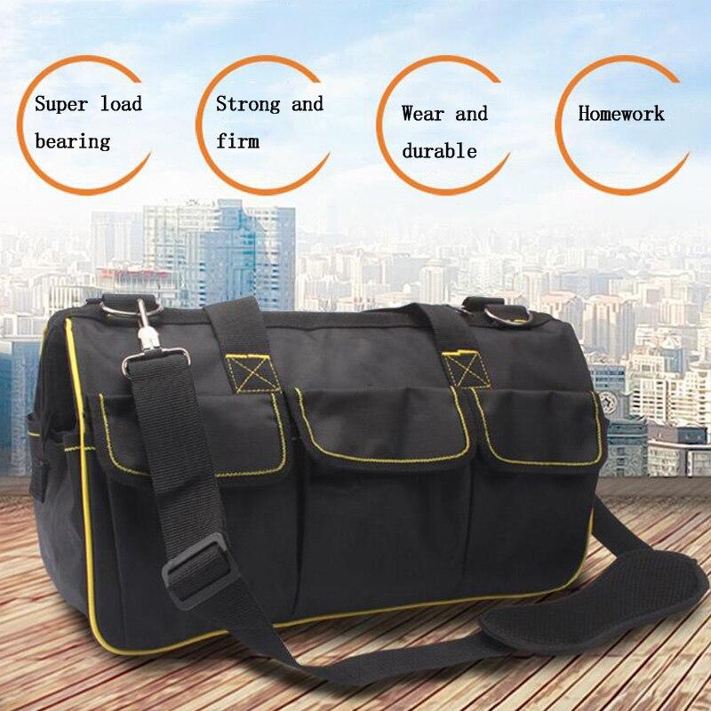 Multi-function Tool Bag 12/15/17 Inch Single Shoulder Kit Repair Tool Storage Bag Electrician Oxford Bag Large Capacity Kit