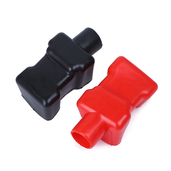 2pcs New Universal Rubber Car Battery Terminal Negative Positive Covers Insulating Protector Auto Battery Terminal Dust Cap image