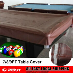 7/8/9ft 235x135x20cm/245x140x20cm Foot Pool Snooker Billiard Table Cover Fitted Heavy Duty Waterproof Snooker Protector