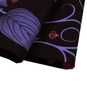 Image 3 - Tela de cera estampada de batik Africa Ankara, 2019 algodón, cera 100% real, material de costura de África para vestido de fiesta de 6 yardas, 2020