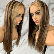 4 27 Highlight Wig Straight Lace Front Human Hair Wigs 13x1x5 Piano Color Lace Frontal Closure Wigs Preplucked Glue Less Lace