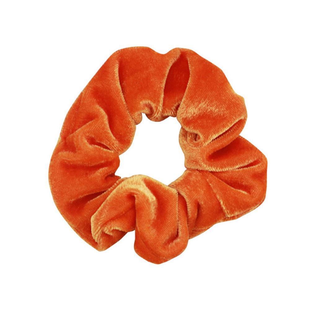 1 шт., женское эластичное кольцо для волос, зимние мягкие бархатные резинки, резинки для волос, милые одноцветные аксессуары для волос, держатель для конского хвоста - Цвет: 15
