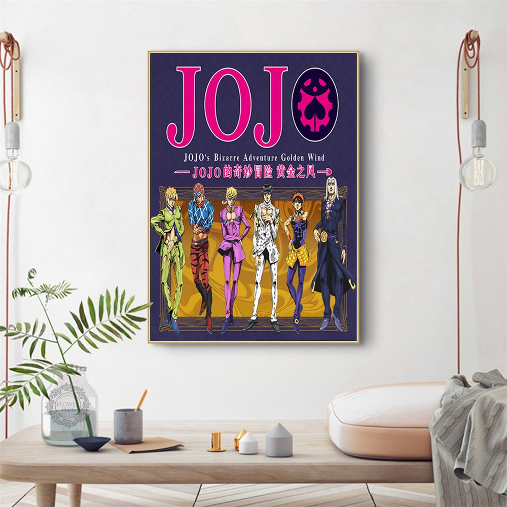 Poster-And-Prints-JoJo-s-Bizarre-Adventure-Action-Japan-Anime-Kid-Paintings-Classic-Art-Wall-Pictures
