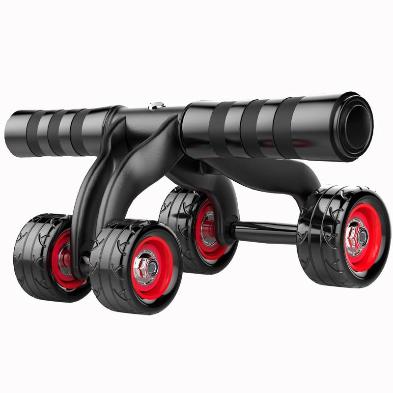 4 Roda Ab Rol Daya Perut Peralatan Latihan Otot Rumah Kebugaran Ab - Kebugaran dan binaraga - Foto 3