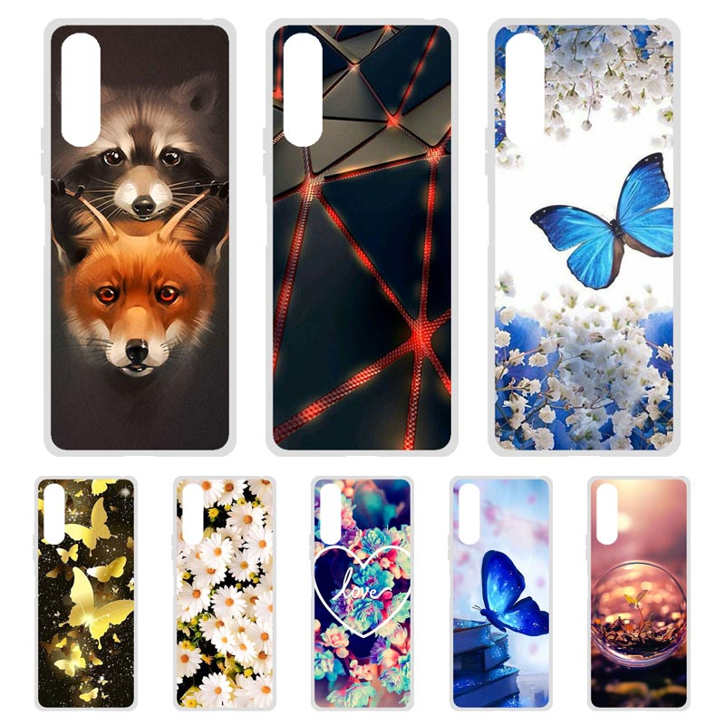 Soft TPU Phone Case For Sony Xperia 1 II Cases Silicone Painted Floral DIY Bumper For Sony 10 II Cases