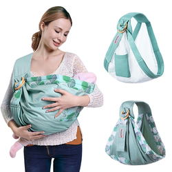 Baby Wrap Ring Sling Baby Carrier Backpack Nursing Cover for Infants Toddlers Soft Natural Wrap Breathable Cotton Kangaroo Bag