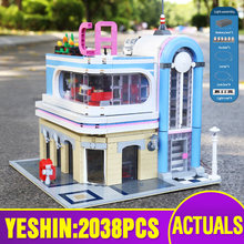 15037 City Streetview Toys Compatible With MOC 32566 Downtown Diner Assembly Building Block Bricks Kids Christmas Gift Kids Toys
