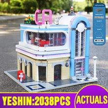 15037 Stad Streetview Speelgoed Compatibel Met MOC 32566 Downtown Diner Montage Bouwsteen Bakstenen Kinderen Christmas Gift Kinderen Speelgoed