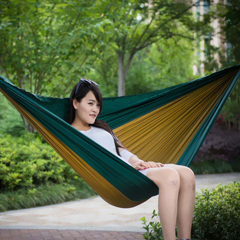 Outdoor Genuine Product Double Parachute Cloth Hammock Indoor Swing Dormitory Useful Product Ultra-strength Load-Bearing