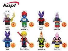 Single Sale Building Blocks Super Heroes Dragon Ball Series Kaio Shin Zamasu Android 13 Goku Figures Children Gift Toys KF6036