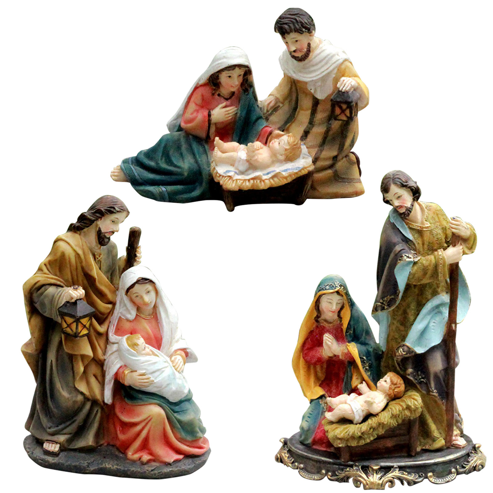 Nativity Statue Scene Set Baby Jesus Manger Christmas Crib Figurines Miniatures Ornament Church Gift Home Decoration Products Are Sold Without Limitations