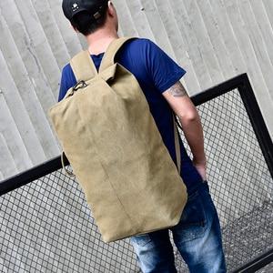 Image 4 - 2019 New Large Capacity Rucksack Man Travel Bag Mountaineering Backpack Male Luggage Canvas Bucket Shoulder Bags Men Backpacks