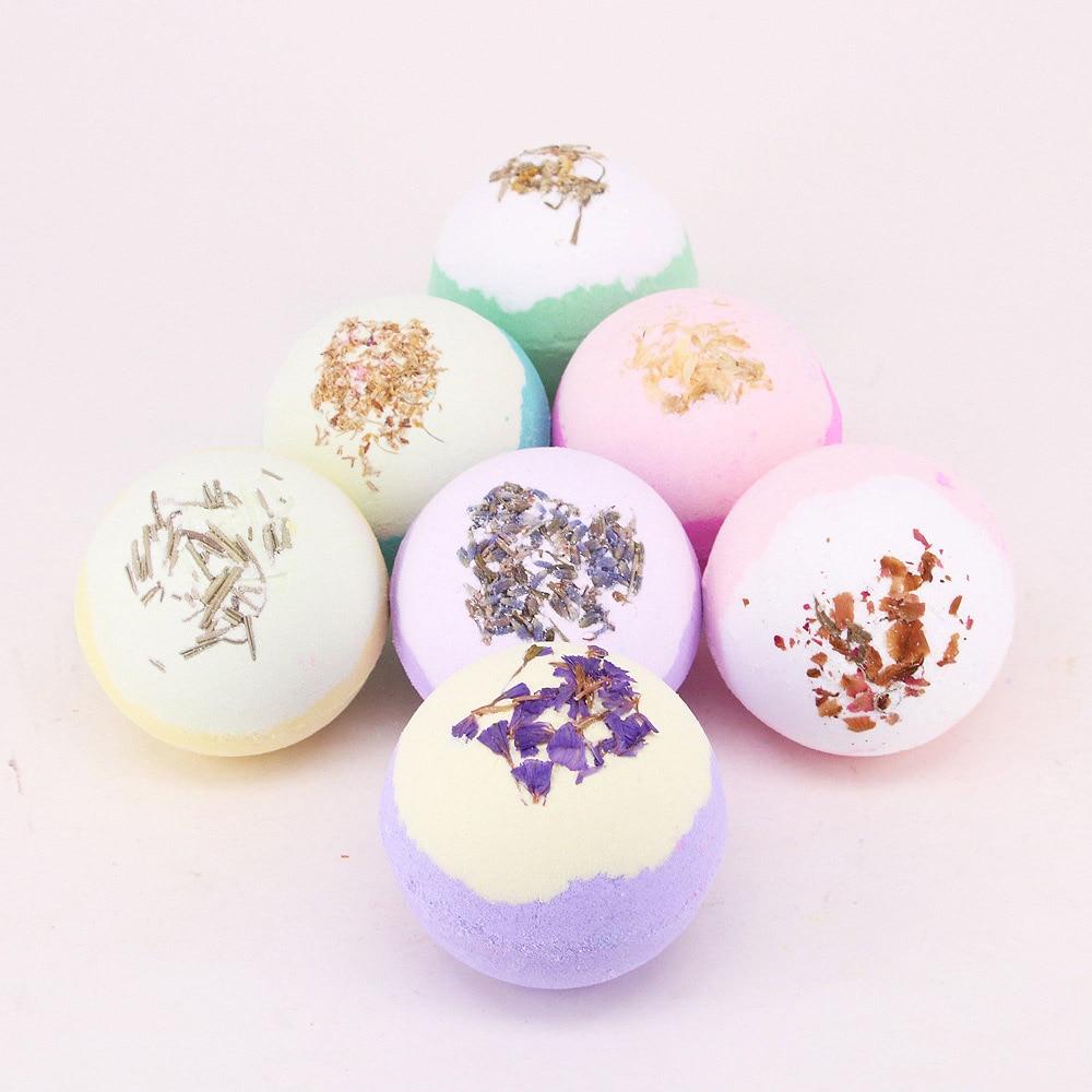 100g Bath Bomb Shower Fizzy,Natural Dried Flowers Spa Bomb Moisturizing Skin Spa Bomb Ideal Gift For Women Bath Salt