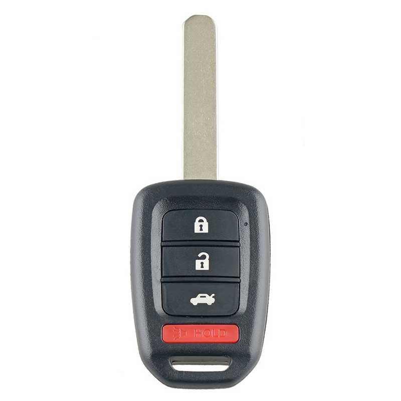 Carro Inteligente 4 Botões do Controle Remoto Chave Fob Chave Do Carro Apto para Honda Civic 2014 2015 2016 2017 313.8Mhz Mlbhlik6-1T