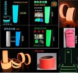 30cm * 5M Multicolor PET Nastro Luminoso di Auto-adesivo Raggiante Notte/di Sicurezza Scuro Fase Sorprendente di Avvertimento nastro di sicurezza