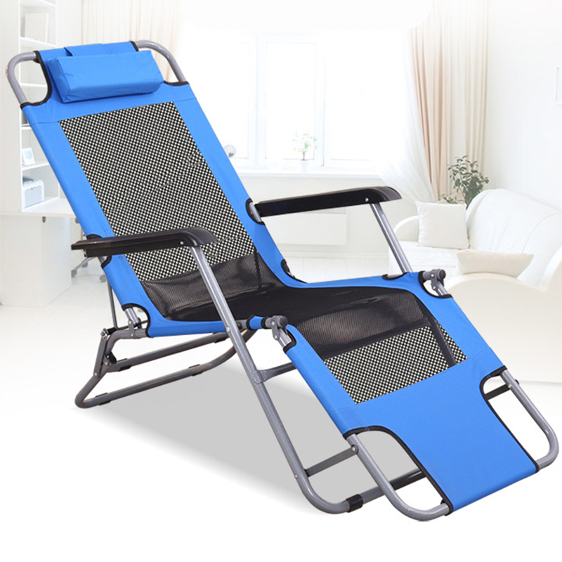 Summer Season Office Multi-function Simple Folding Recliner Home Adult Siesta Lunch Break Lazy Beach Chair