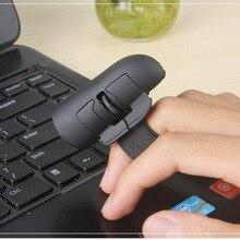 1 Pc Black 2.4GHz USB Wireless Finger Rings Optical Mouse 1200Dpi for PC Laptop Desktop
