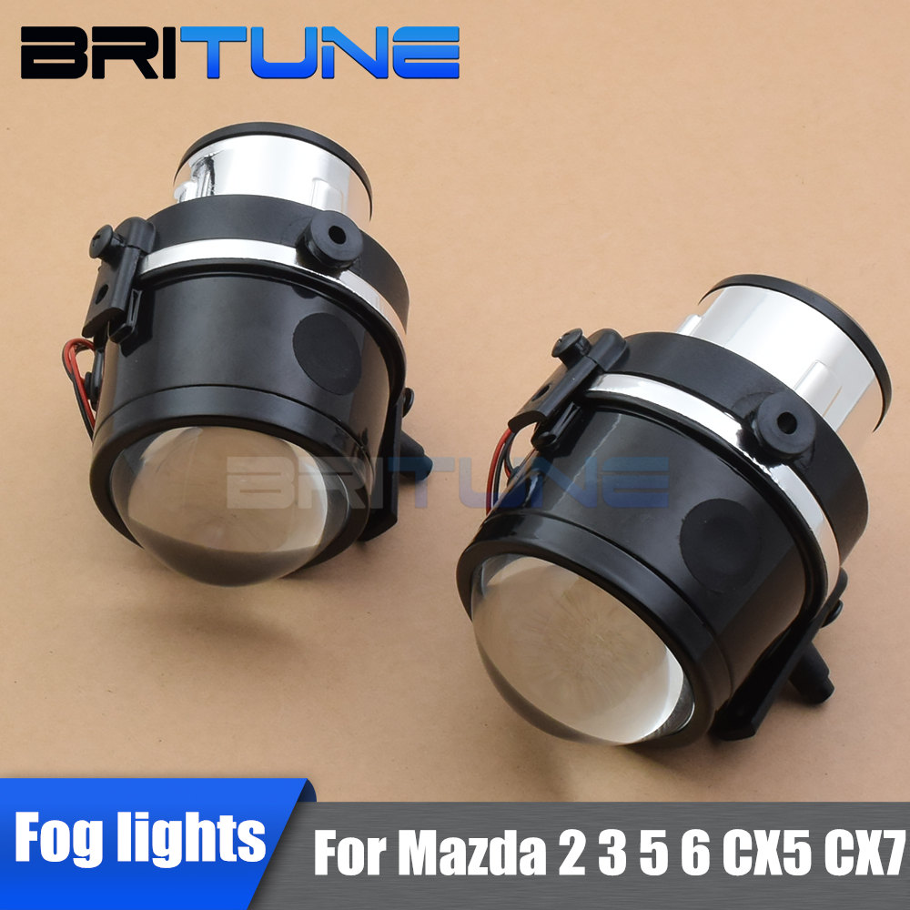 Fog <font><b>Lights</b></font> Bi-xenon Lens For <font><b>Mazda</b></font> 2 3 5 <font><b>6</b></font>/<font><b>Mazda</b></font> CX7 CX5/<font><b>Mazda</b></font> Axela Cars Accessories Retrofit Style DIY Use H11 HID Xenon Lamps image