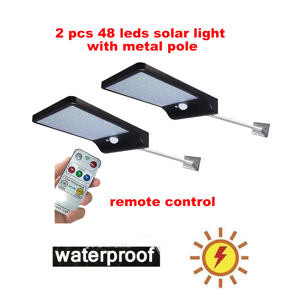 2/4pcs Solar Garden Light LED Solar Lamp Motion Sensor Waterproof Outdoor Lighting Decoration Street Lights Security Wireless Wa|Solar Lamps| |  - title=