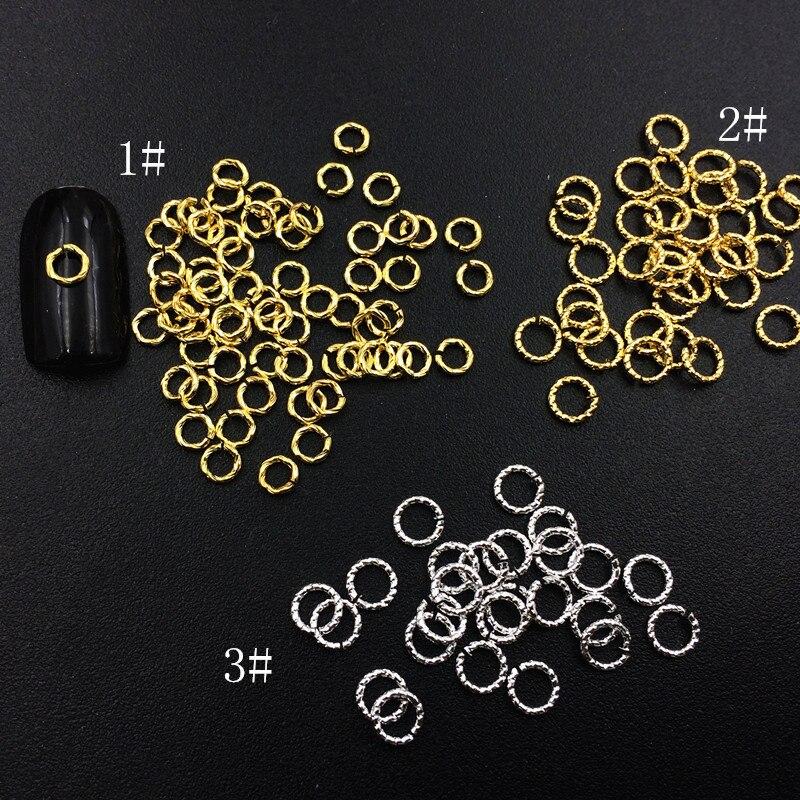 Metal Circle Rivet Nest Japanese-style Punk Style Men's Circle DIY Alloy Phototherapy Crystal Nail Sticker 100