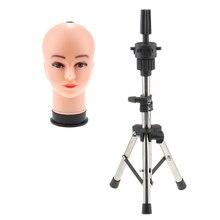Mannequin de cosmétologie chauve femme 21 pouces