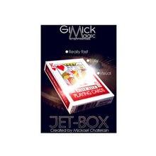 Boîte à JET par Mickael Chatelain (gimick + Instructions en ligne), carte magique amusante à fermer, boîte à cartes, changements et Illusions